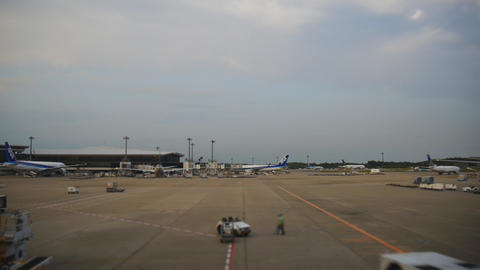 Narita International Airport tarmac Live Action