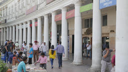 People shopping on Connaught Place,New Delhi,India Footage