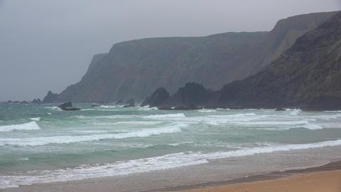 Ocean Beach And Cliffs Live Action