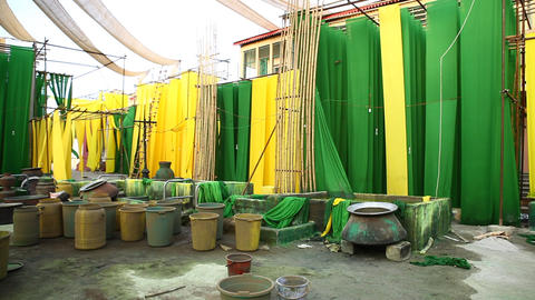 Cloth Colour Dyeing Factory Footage