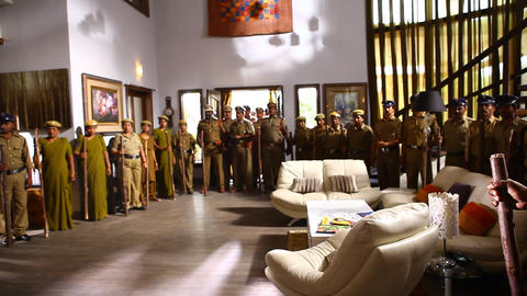Interior of Indian police station Footage