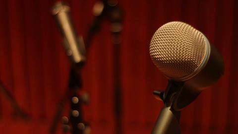 Recording studio audio microphones compilation shot in a music studio GIF 動畫