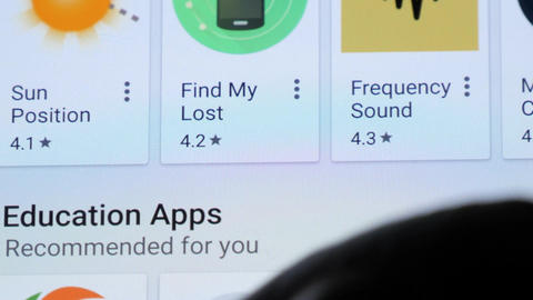Applications in the apps store on phone Live Action