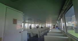Interior Establishing Shot of East River Ferry Footage