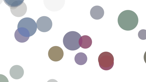 Rising circle(colorful) Animation