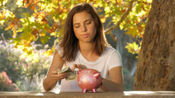 Debt repayment fees of a student load or mortgage causing financial stress Footage