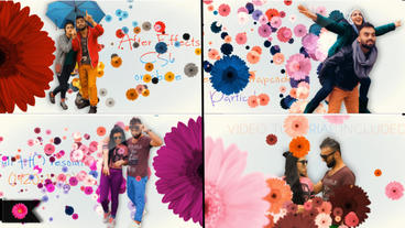 Flowers Love Story Gallery After Effects Project