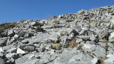 Walking on the rocks Footage