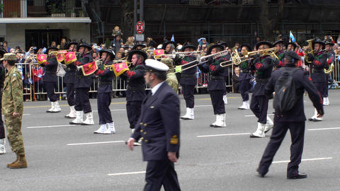 Italy marching band in Argentina Bicentennial independence day celebrations Footage