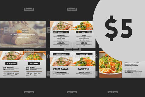 Vintage Food Menu - Restaurant Display /Digital Signage/ After Effects Template