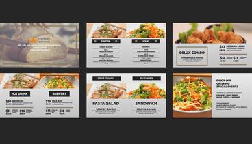 Vintage Food Menu - Restaurant Display /Digital Signage/ After Effects Project