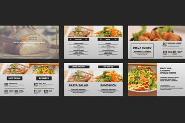 Vintage Food Menu - Restaurant Display /Digital Signage/ After Effects Project