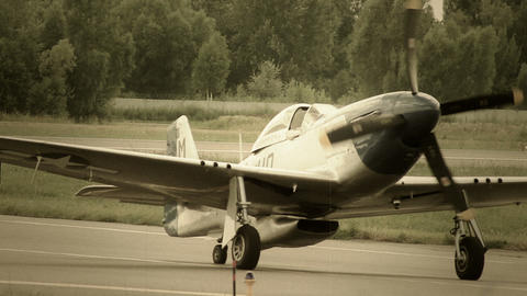 Vintage American air plane stylized for World War 2 Footage