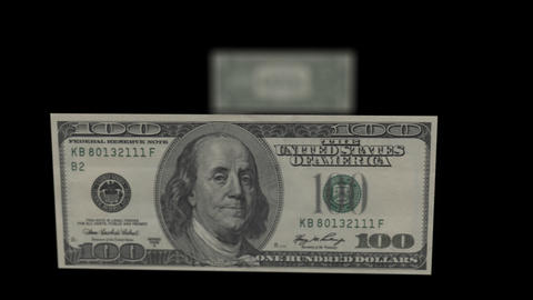 Investment and savings. Dollar to 100 dollars to stack of money Footage