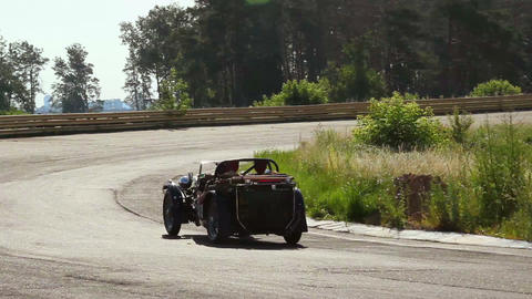 Rare vintage car MG TC hd-quality shot. 1920S, 1930s cars before world war 2 Live Action
