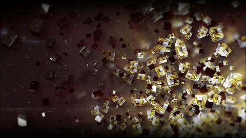 Tao Box Yellow metal texture 2 Background Animation