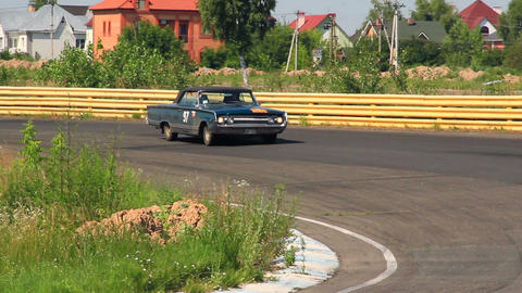 Mercury Park Lane, sluggish vintage car driving over countryside Footage