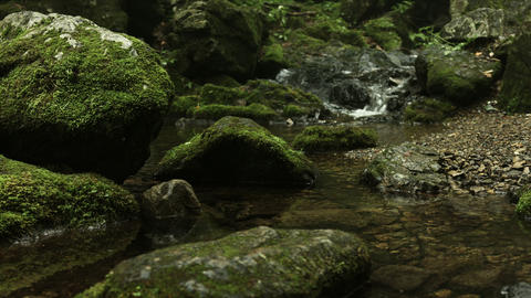 natural rocks and old river, Rock garden Ootsuki in Japan 大月 ロックガー Footage