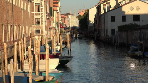Buildings And Boats At Venice Canal Live Action
