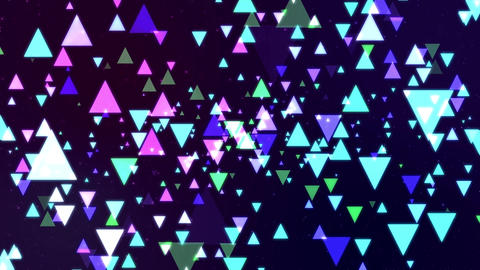 space and cool color triangle CG動画