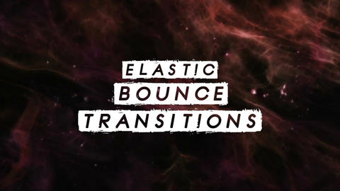 Elastic Bounce Transitions Premiere Pro Template