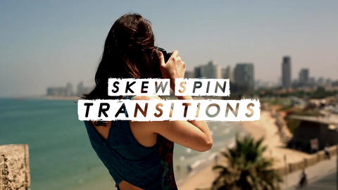 Skew Spin Transitions Premiere Pro Template