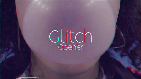 Fashion Glitch Opener Plantillas de Premiere Pro