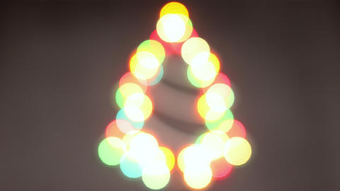 Looping stop motion animation of Christmas lights in Christmas tree shape blinking Animation