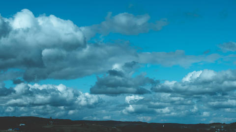 Creation of dramatic evening clouds. The movement of... Stock Video Footage