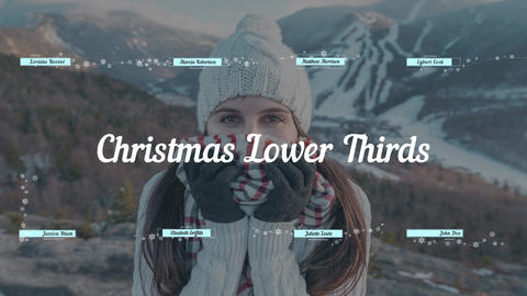 Christmas & New Year Lower Thirds After Effects Template