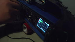 Sound engineer adjusts the sound Live Action