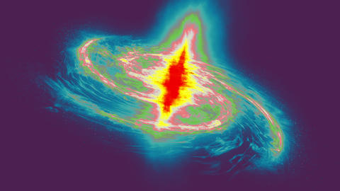 Thermal view galaxy image. Thermal emission or radiation in space. 4k footage Animation