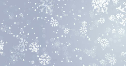 Chrismas Snowflakes Background Animation