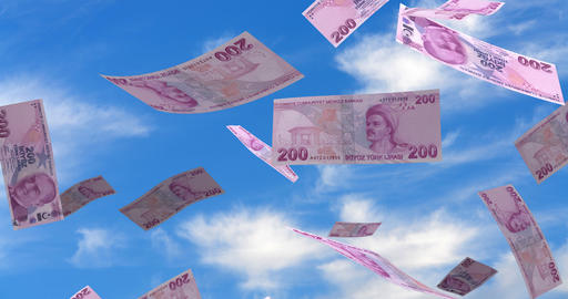 Falling Turkish Lira Animation