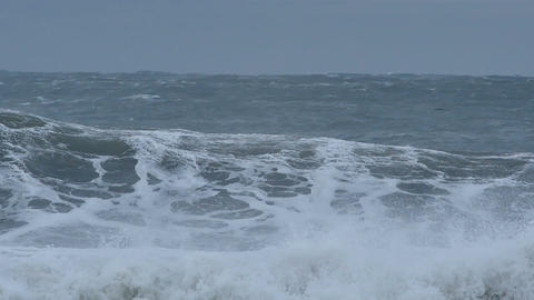 Wild weather big ocean sea waves from climate change effects Footage