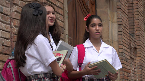 Excited Female Catholic Students Live Action