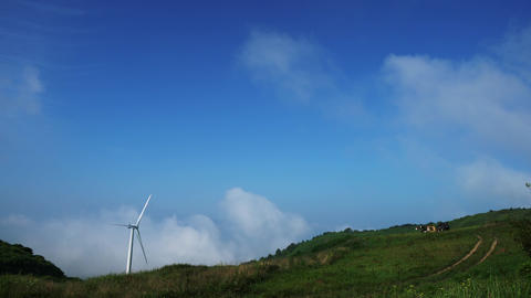 Wind generator with clouds Footage