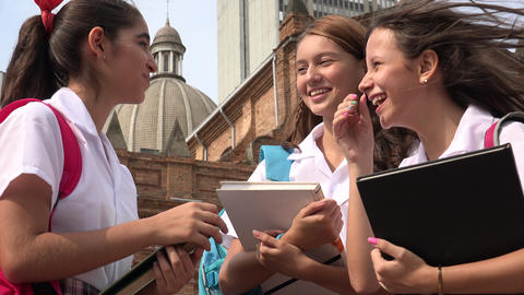 Catholic School Girls Having Fun Live Action
