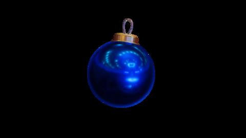 Isolated Dark Blue Christmas Bauble Animation