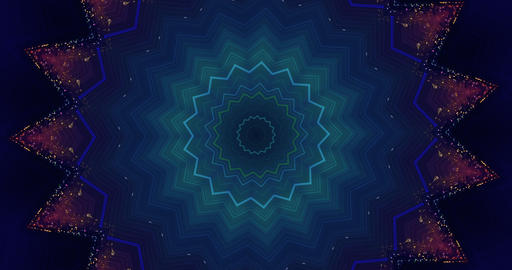 Christmas kaleidoscopic background. Festive background in star shape. 4k Animation