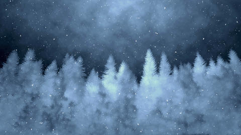 Dark Winter Background Animation Videos animados