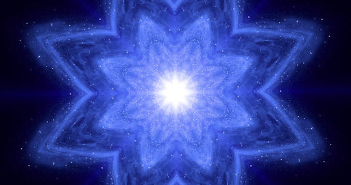 Zen energy balance concept. Meditation flower changes its geometric shape. Yoga, Buddhism, Oriental Animation
