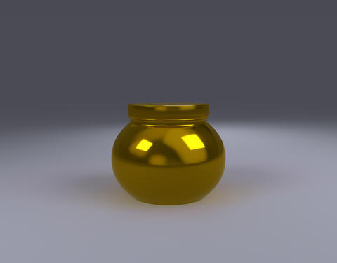 gold jar product pack front view Photo