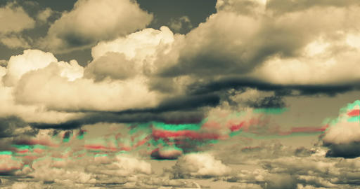 Dramatic time lapse of digital clouds. Concept of cyberspace and cloud storage. Cyber security and Live Action