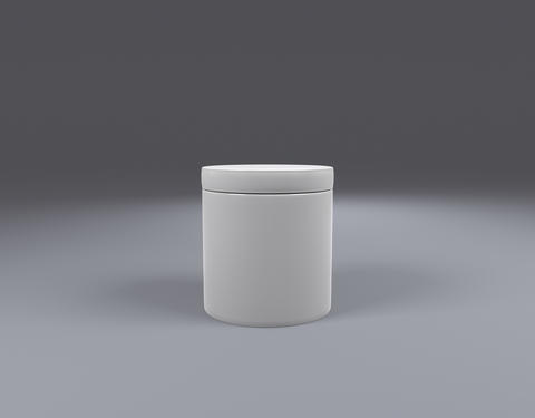 white Plastic Jar front view Photo
