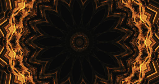 Fractal kaleidoscopic background with particles. Disco spectrum lights concert spot bulb Animation