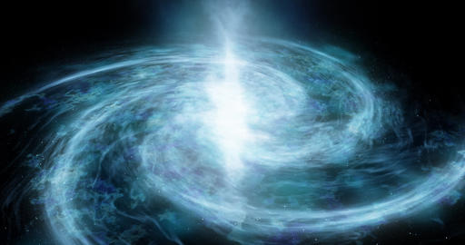A spiral galaxy moves around Abstract space background Star space, the formation of stars and Animation