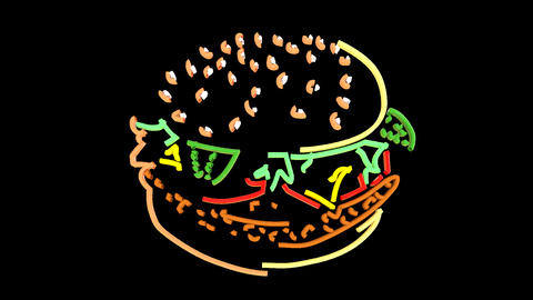 Hamburger Line Art Animation
