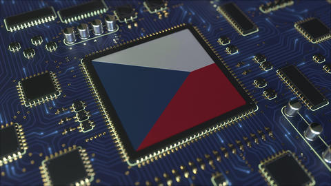 Flag of the Czech Republic on the operating chipset. Information technology or Live Action