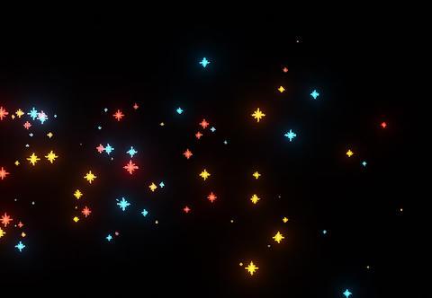 Colored Stars GIF